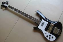 Wholesale Cnbald Left handed Rick. 4 string 4003 electric bass guitar In black 130601