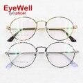 2017 fashion alloy retro round optical frame for lady prescription eyewear hot sale high quality women eyeglasses 1888