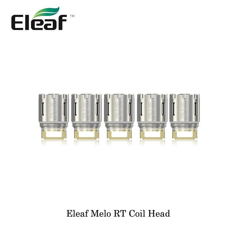5pcs Authentic Eleaf Melo RT 22/Melo RT 25 ERL 0.15ohm/ ERLQ 0.15ohm Ultra High Power Core Huge Vapor 100% Pure Cotton Vaporizer