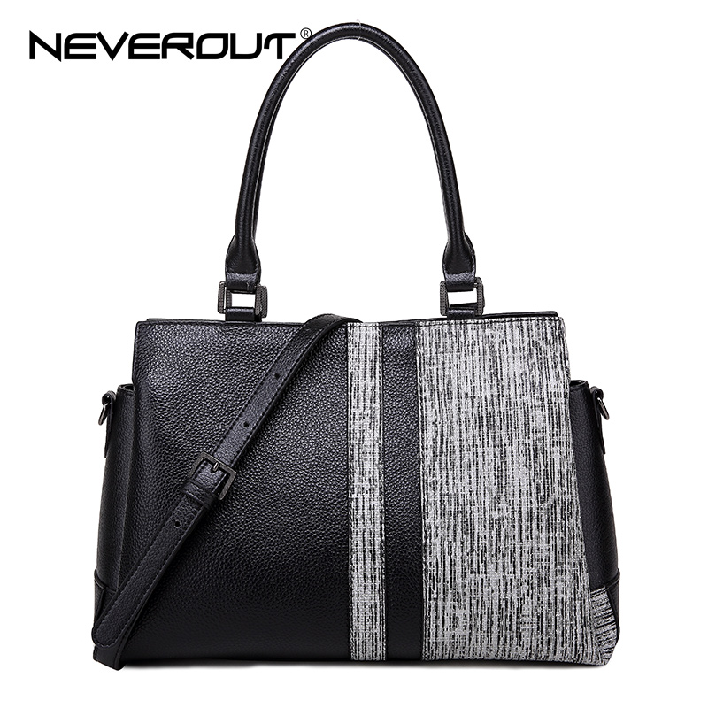 NeverOut Stone Style Travel Shoulder Sac High Quality Genuine Leather Casual Tote Bags Brand Name Women Handbag Lady Handbags neverout brand name shoulder bag sac