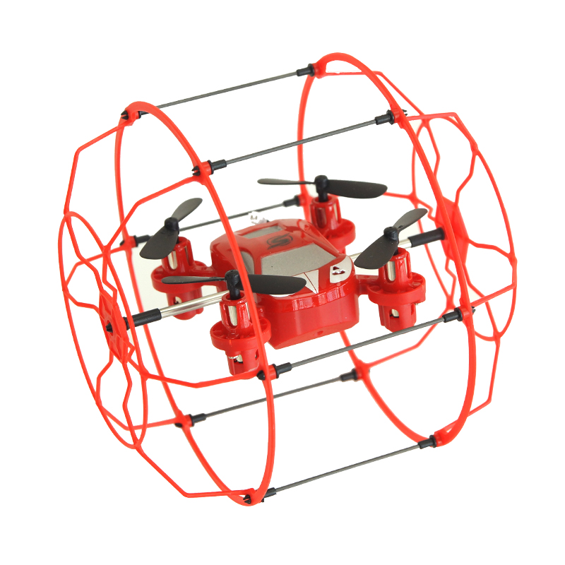 Mi Sky Walker Dron 2 4G 4CH 6 Axis Ball Shaped Protector Flying and Running Remote