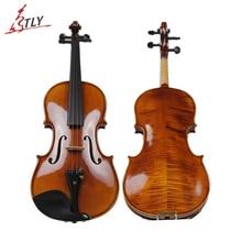 TONGLING Brand Professional Natural Flamed Hand Made Violin Maple Wood Antique Violin Violino 4/4 3/4 Stringed Instruments