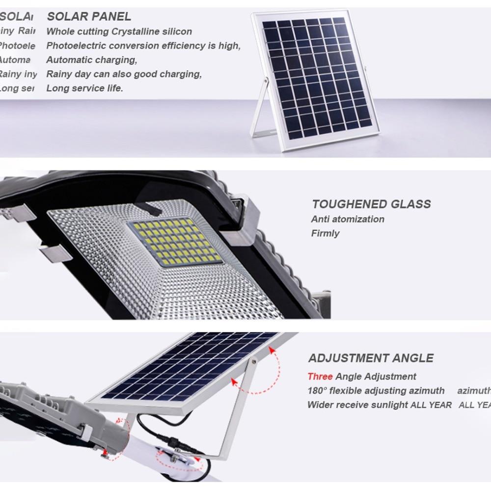 Street Light With Solar Panel: Led Solar Street Light Outdoor Waterproof Large Solar