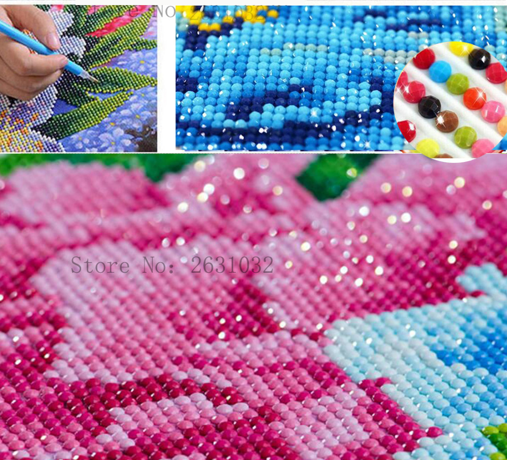 UzeQu pilnas deimantinis siuvinėjimas gėlių jūros peizažas 5D - Menai, amatai ir siuvimas - Nuotrauka 3