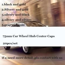 20pcs/lot 75mm Car Wheel hub center caps Auto emblem logo badge Covers