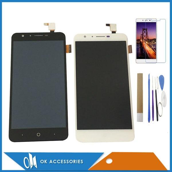 Hohe Qualität Schwarz Weiß Farbe Für Doogee Y6 Y6C Für Doogee Y6 Klavier Touchscreen Digitizer + LCD Display Mit kit
