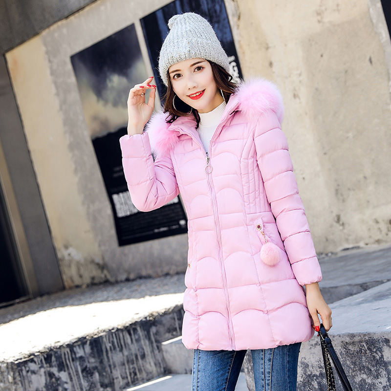 Winter Jacket Women   Parkas   Fur Hooded Casual Down Cotton Coat Oversized Warm Thicken Padded Plus Size Winter Jacket XXXL Q1632