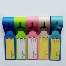 купить 2PCS/lot Travel Accessories Luggage Tag Suitcase ID Address Holder Baggage Boarding Tags Portable Label Outdoor Sports Bag Tags по цене 177.53 рублей