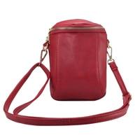 Effelon Universal PU Leather Cell Phone Bag Shoulder Pocket Wallet Pouch Case Neck Strap For Samsung