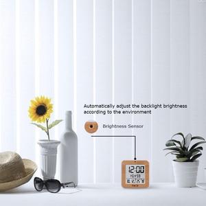 Image 3 - Fanju fj3533 디지털 알람 시계 led 온도 습도 듀얼 알람 자동 백라이트 스누즈 날짜 온도계 데스크탑 테이블 시계