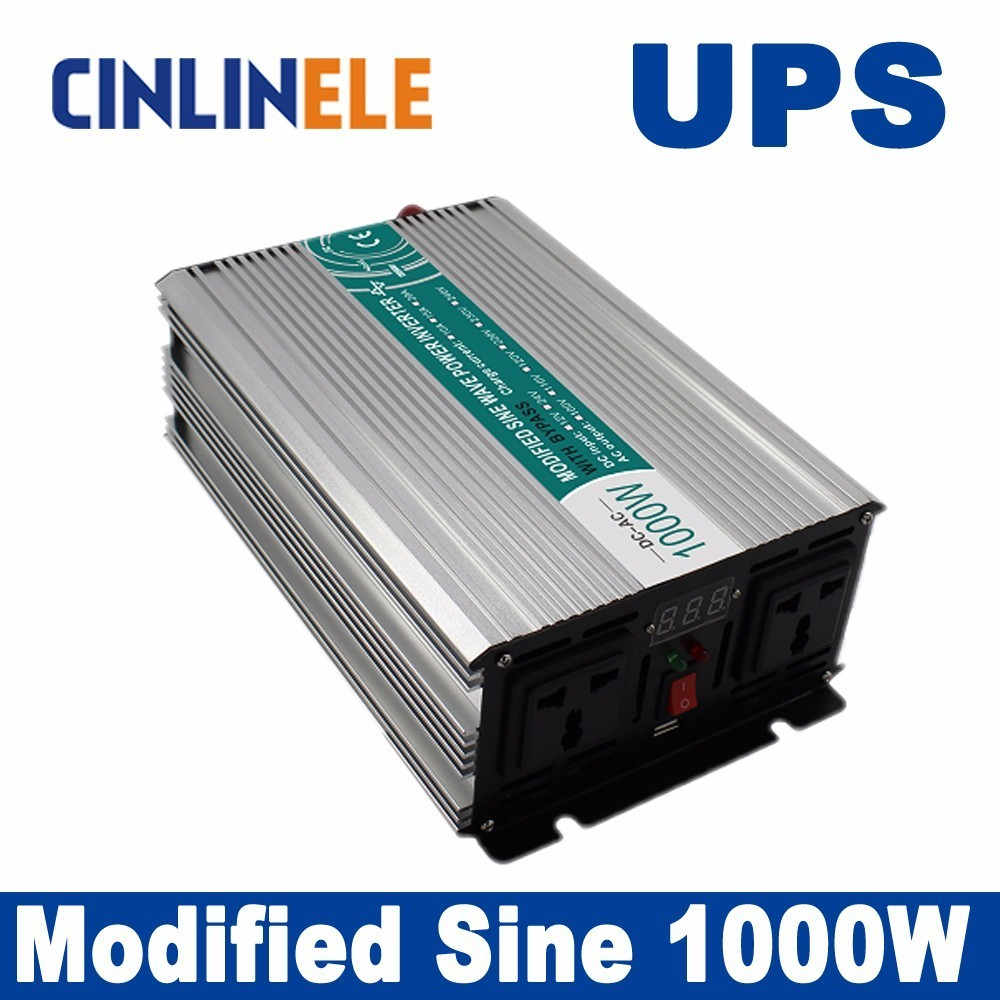 Universal inverter UPS+Charger 1000W Modified Sine Wave Inverter CLM1000A DC 12V 24V 48V to AC 110V 220V 1000W Surge Power 2000W
