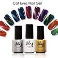 Bling Ojos de Gato 3D Esmalte de Uñas de Gel Empapa de UV de Colores Colores Del Arte Del Clavo esmalte de uñas de gel de Larga duradera Gel