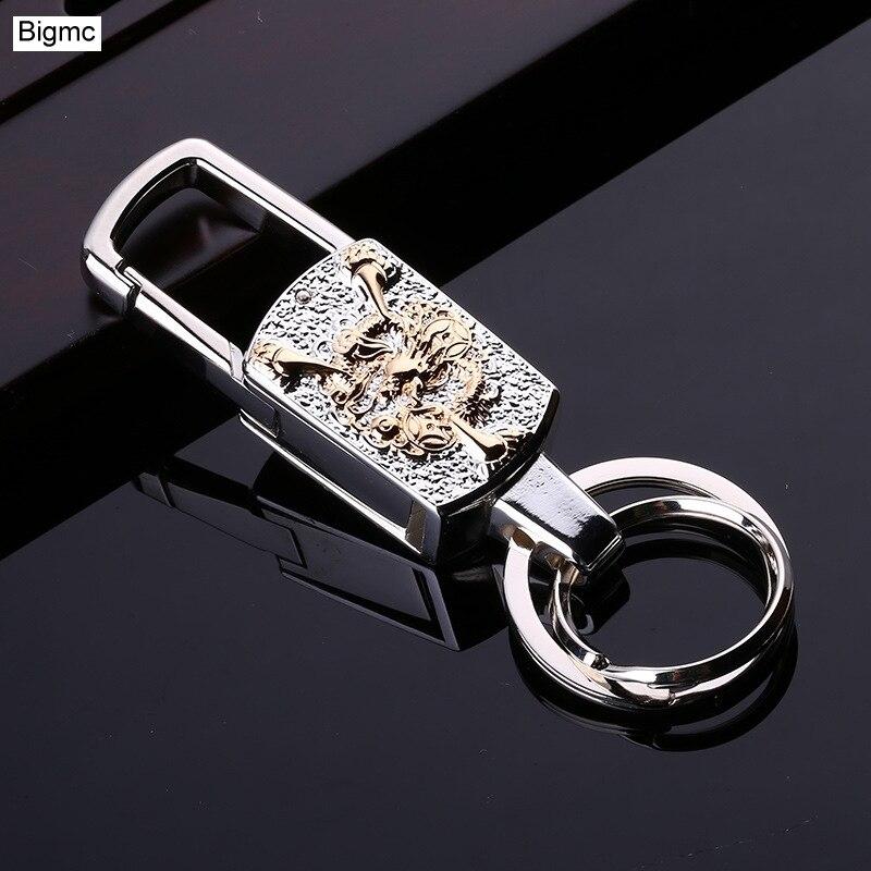New Brand Men Women Car Key Chain Top LED multi-functional high-end Key Holder Car Key Ring Metal High Quality Keychain K1201