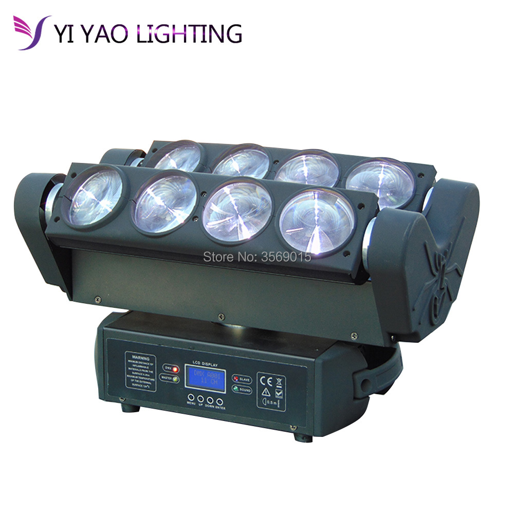 DJ Moving Head Lights Beam Spider Light 8x12W RGBW With DMX For Party LED Stage Lighting