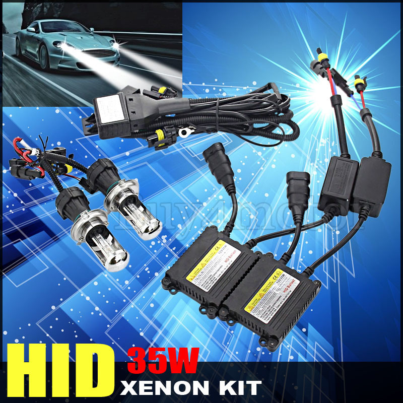 35W DC H13 H4 9004 9007 HID Bi xenon Bixenon High Low Conversion Auto Headlight Kit Bulb upgrade 4300K 6000K 8000K 10000K 12000K стоимость