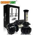 CNSUNNYLIGHT Turbo Coche LED Headlight Kit Canbus H7 80 W 10000LM Super Brillante Reemplazar Bombilla w/Anti-Deslumbramiento haz No Error de Advertencia