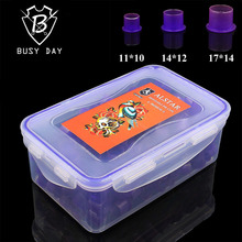 Disposables Tattoo Ink Cups Brand Sterile Self-standing Purple Ink Caps Three Size Tattoo Accessories For