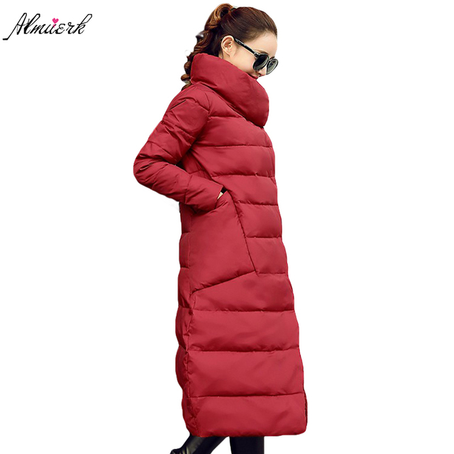 Long Women winter jacket coats Large size 3XL Feather cotton Women Parkas big pockets warm Thicker padded winter outerwear YZ371
