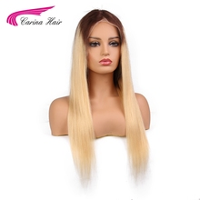 Carina Ombre Blonde Lace Front Human Hair Wigs With Baby Hair 4#/613 Brazilian Remy Hair Pre Plucked Natural Hairline