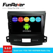 FUNROVER android 9.0 autoradio dvd 2 din Per Mitsubishi Outlander 2006-2014 Peugeot 4007/Citroen C- crossergps di navigazione navi