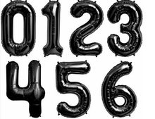 16&32 Inch Number Foil Balloons Rose Gold Silver Blue Black Red Balloons Wedding Birthday Party Decoration Baby Shower Supplies(China)