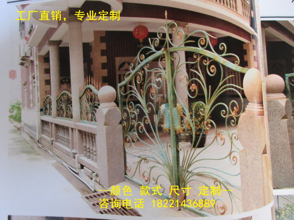 Hench 100% Factory Wholesale Wrought Iron Gates Metal Gates