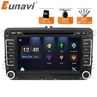 Eunavi 7 ''2 Din dvd плеер автомобиля радио gps навигация для VW Golf Polo Jetta Touran Mk5 Mk6 Passat b6 2din стерео Bluetooth SWC
