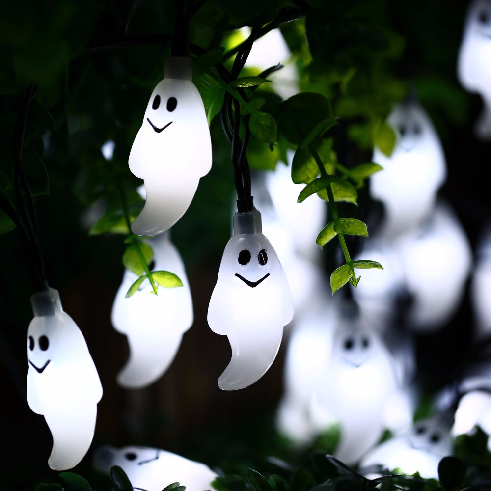 New Arrive 30 Led Ghost Solar String Lights Outdoor Solar