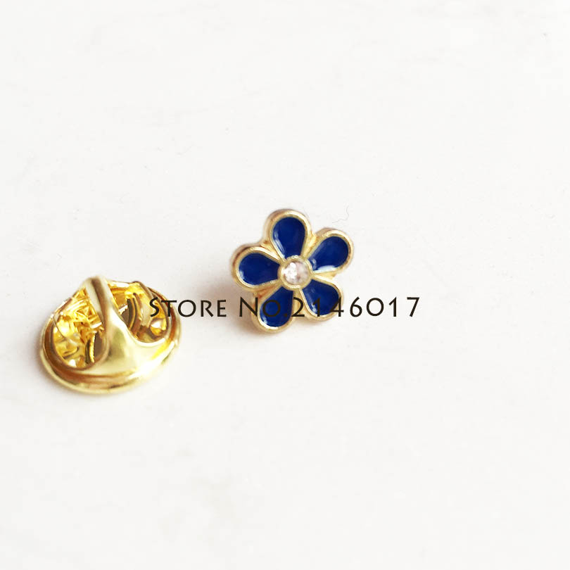50 pcs broche personnalisée broches petite taille franc maçonnerie maçonnique oublie non fleur épinglette avec strass Badge métal artisanat-in Broches et badges from Maison & Animalerie    1