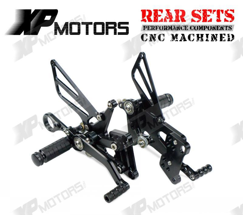 New Arrived CNC Foot pegs Adjustable Racing Rear Sets For BWM S1000R S 1000R 2014 2015 Black