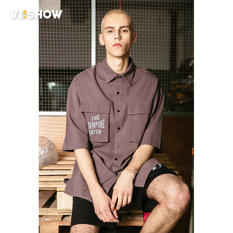 VIISHOW 2018 Casual Shirts Men Summer Short Sleeve 100% Pure Cotton Cool Breathable Retro Brand Clothing Tops Camisa CD1557182