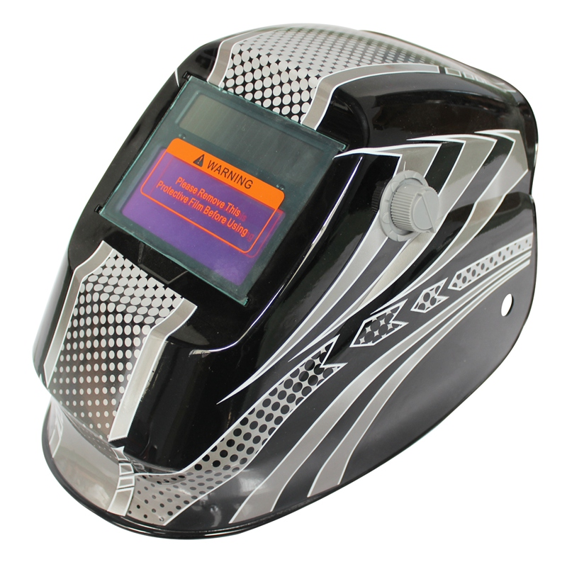 цена на Hot sale New Pro Solar Welder Mask Auto-Darkening Welding Helmet Black and white dots