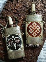 HDC0637 Tibet El Yapımı Antiqued Yak Kemik Snuff şişe, 3 '', Tibet Nepal Hindistan sanat colletibles, Buda Göz sonsuz Knot, hiçbir ADEDI