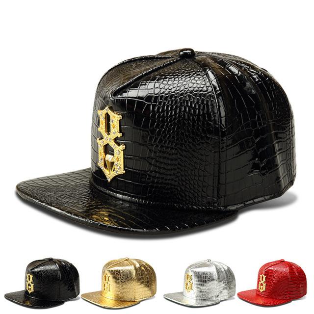 Novos venda quente Hip Hop boné de beisebol dos ganhos respirabilidade chapéus para homens e mulheres Gorras Snapback osso liga de diamante falso bonés de couro