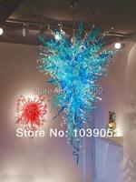 Envío Gratis candelabro grande de cristal soplado antiguo LED azul|chandelier blue|chandeliers free shipping|chandelier chandelier -