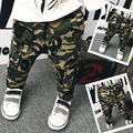 Han edition of new fund of 2016 autumn boy camouflage overalls reducing slacks baby long pants free shipping