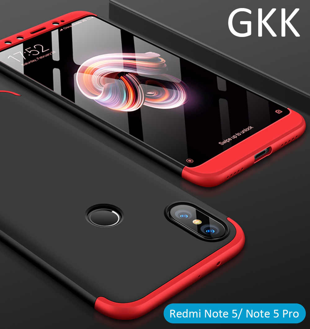 dc24f52f5d9 GKK Case For Xiaomi Redmi Note 7 6 Pro Note5 360 Full Protection Cover  Global Version