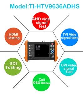 Image 5 - 7 אינץ AHD מצלמה בודק 8MP TVI CVI 5MP AHD 2MP SDI טלוויזיה במעגל סגור מצלמה בודק צג תמיכה UTP שיחת OSD תפריט