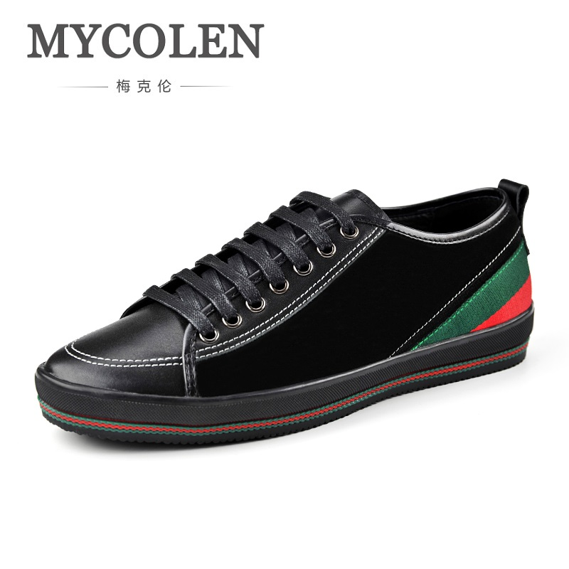 MYCOLEN New 2018 Spring Summer Canvas Shoes Men Sneakers Low Top Black Shoes Men's Male Brand Fashion Casual Shoes
