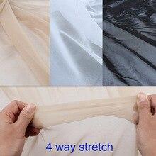 Сверхтонкий нейлон 4 способ стрейч сетчатая ткань spandex нижнее белье чулки вязать чистая телесного цвета высокой упругой по двору
