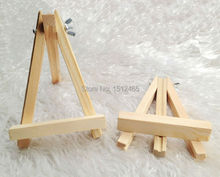 24Pcs Mini Wooden Easel Stand Wedding Table Number Place Name Card Stand 15*10cm