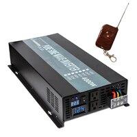 4000 W Onda Senoidal Pura Inversor 24 V para 220 V Inversor de Energia Solar Regulador de Tensão Coverter 12 V/ 48 V DC para 120 V/230 V/240 V AC Remoto