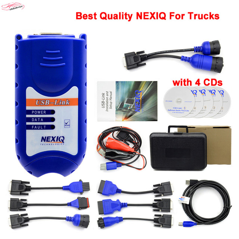 2017 New arrive NEXIQ 125032 USB Link Auto Heavy Duty Truck Scanner tool + Software with All Installers DHL free стоимость