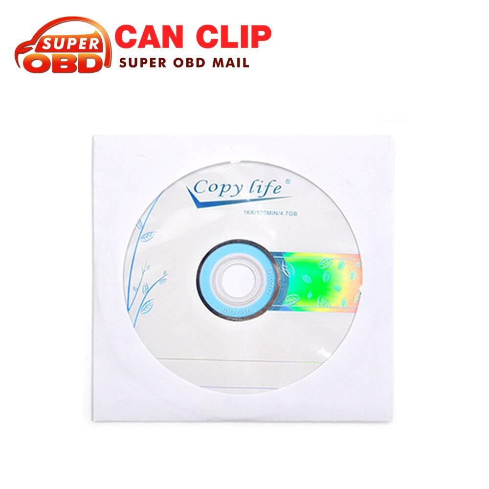 Prix pour 2017 Nouvelle arrivée pour Renault can Clip Auto outil De Diagnostic Logiciel CD seulement contient Dernière Version V160 DVD Livraison Gratuite