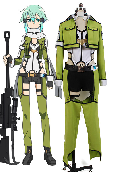 Sword Art Online Cosplay ALfheim inon Asada Shino Cosplay Costume Gun Gale SAO/GGO Shino Asada/Sinon Outfit Full Set Suit