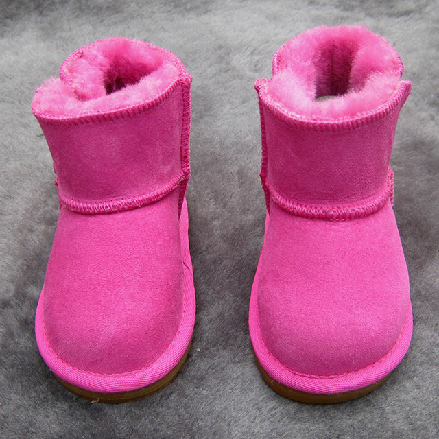 Winter Australia Baby Girls Snow Boots Warm Sheep Skin Leather Fur Baby Botas Waterproof Infant Boot Boys Bootie Shoes Non-slip 2
