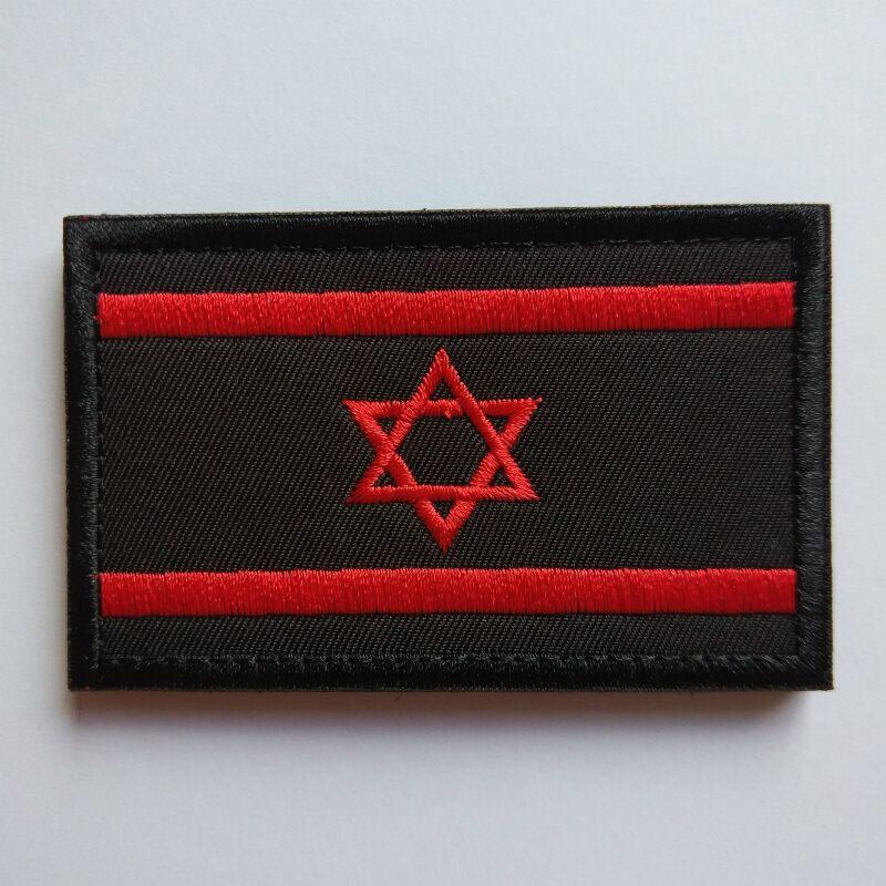HTB1qonXCH1YBuNjSszeq6yblFXab 1pcs Embroidery Israel Flag Brassard Skull Tactical Patch Cloth Punisher Armband Army Hook And Loop Emblem Morale Combat Badge