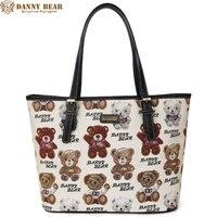 DANNY BEAR Fashion Women White Shoulder Bag Teenager Girls Korean School Tote Bags High Quality Vintage Handbags Bolsas blancas