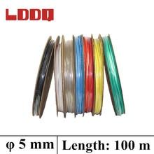 LDDQ 5 мм 100 метр 7 цветов термоусадочная трубка кабель рукав Коэффициент усадки 2:1 термоусадочная трубка