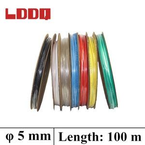 LDDQ 5mm 100meter 7 Colors Heat Shrink Tubing Cable Sleeve Shrinkage Ratio 2:1 Shrink Wrap Shrink Tube Heat Shrink Tubing Tube